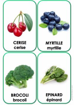 Imagier fruits et l gumes le jardin d 39 alysse - Le jardin d alysse grammaire ...