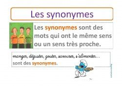 Les synonymes ce2 le jardin d 39 alysse for Jardin synonyme